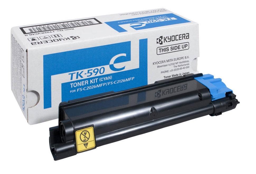Тонер-картридж TK-590C голубой Kyocera